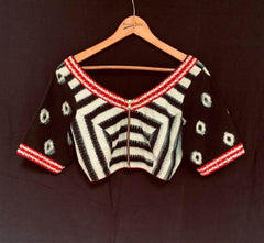 Ira Blouse - Anuradha Ramam-Hand woven- Ikat-Sustainable fashion- Conscious fashion- Vocal for local