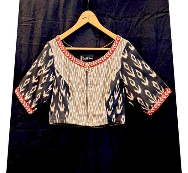 Kapot Blouse - Anuradha Ramam-Hand woven- Ikat-Sustainable fashion- Conscious fashion- Vocal for local