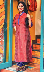 Kinu Kurta - Anuradha Ramam-Hand woven- Ikat-Silk-Sustainable fashion- Conscious fashion- Vocal for local