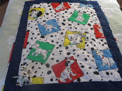 101 DALMATIANS COLORFUL FABRIC QUILT - CreatedOn Disney