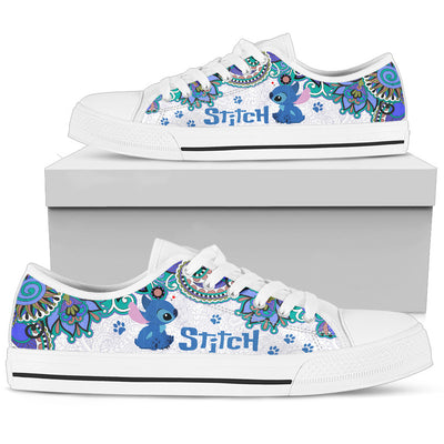 Stitch Low Top Canvas Shoes 1 - CreatedOn Disney