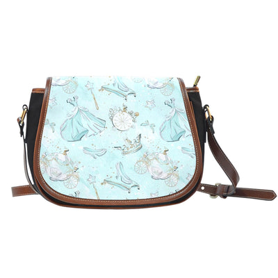 Cinderella Canvas Leather Saddle Bag 2