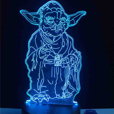 Yoda Star Wars Led Lamp Createdon