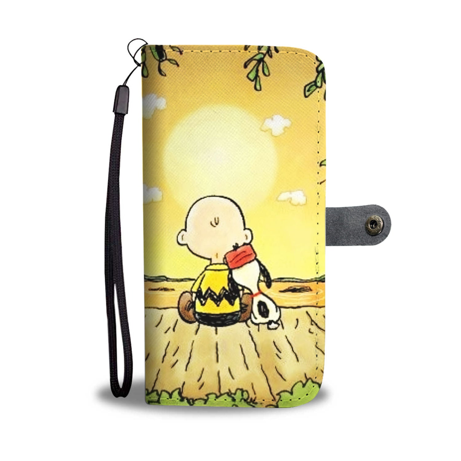iphone xs wallet case snoopy