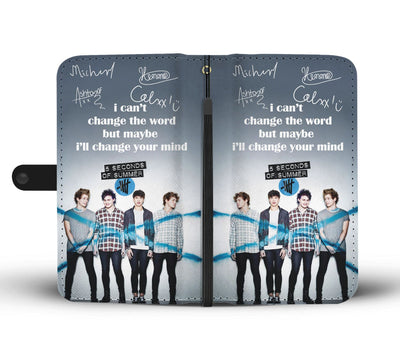 5 Seconds of Summer Wallet Case 6 - CreatedOn Disney