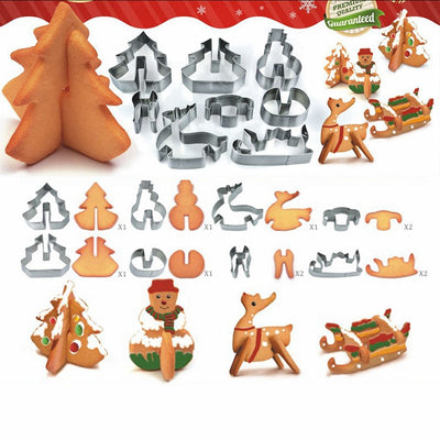 3D Christmas Gingerbread & Cookie Cutters - CreatedOn Disney