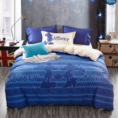 Blue Mickey Minnie Mouse Bedding Set