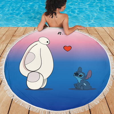Baymax & Stitch Beach Blanket 13