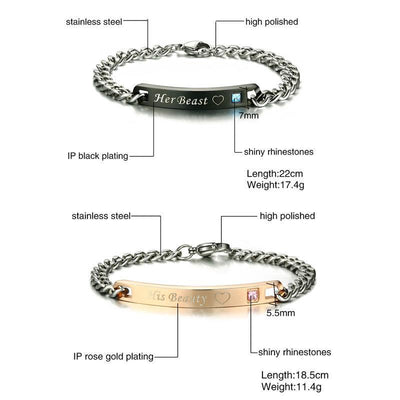 Beauty and The Beast Couple Bracelets