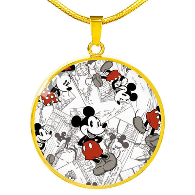 Mickey Circle Necklace 1