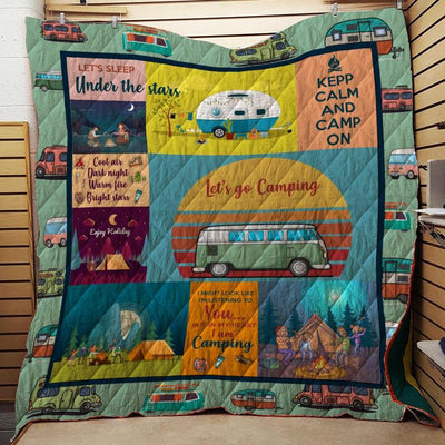 CAMPING FABRIC QUILT