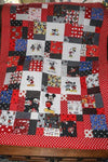 MICKEY AND MINNIE FABRIC QUILT