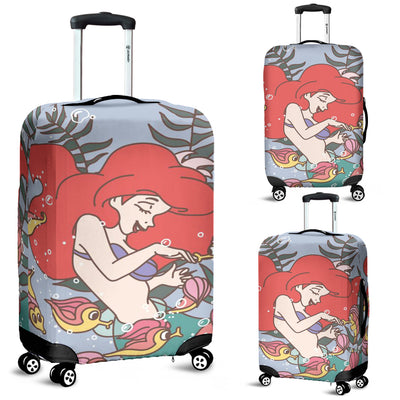 Ariel Disney Luggage Cover 6 - CreatedOn Disney