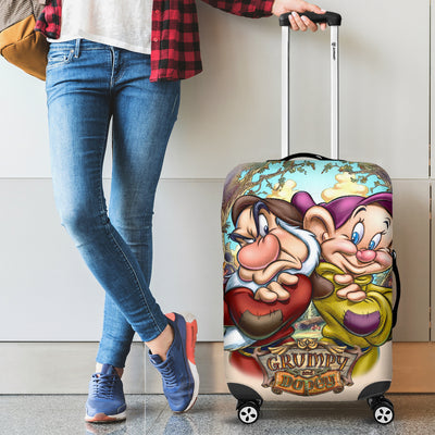 Grumpy & Dopey Disney Luggage Cover 3 - CreatedOn Disney