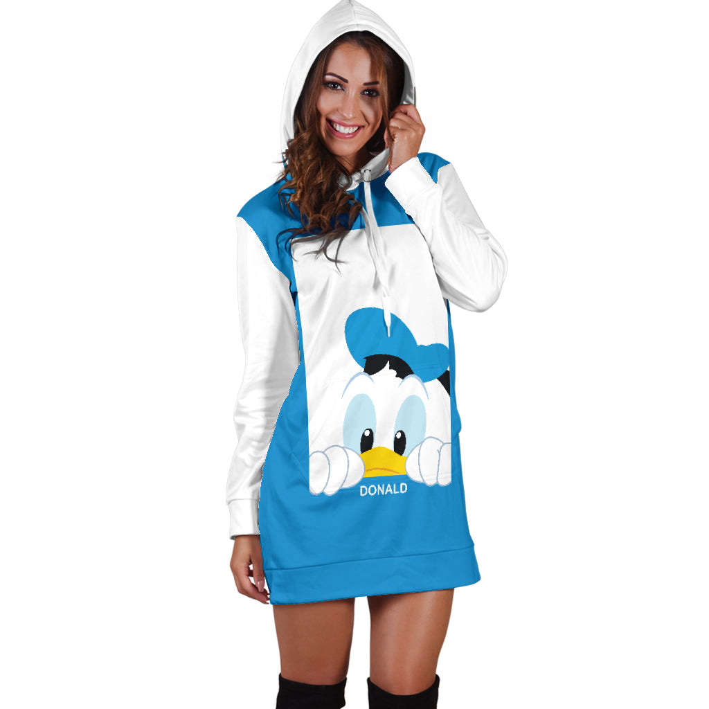 5eb08e26184 Donald Duck Disney Hoodie Dress 2 - CreatedOn Disney