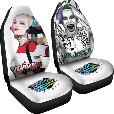 Harley Quinn and Joker Car Seat Covers 1 - CreatedOn Disney