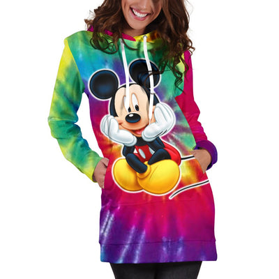 Tie Dye Mickey Hoodie Dress