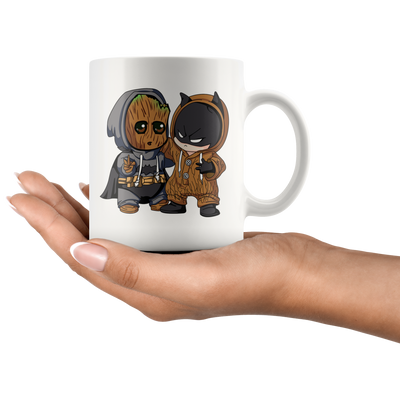 Baby Groot and Batman Mug - CreatedOn Disney