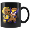 Baby Groot and Hawkeye Mug