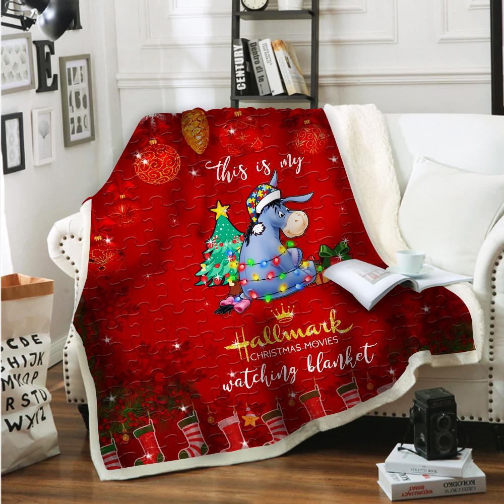 Fast Shipping Santa Claus Christmas Movie Quilt blanket Fleece Blanket