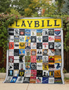 PLAYBILL MEMORIES FABRIC QUILT