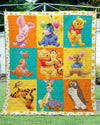 POOH AND FRIENDS  FABRIC QUILT
