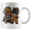 Baby Groot and Batman Mug