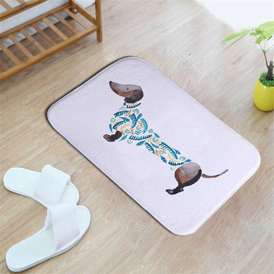 Watercolor Dachshunds Doormat - CreatedOn Disney