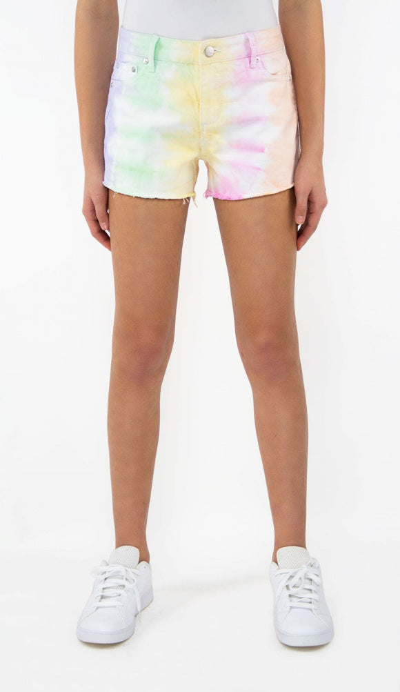 Tractr Girls Brittany Pastel Tie Dye Shorts
