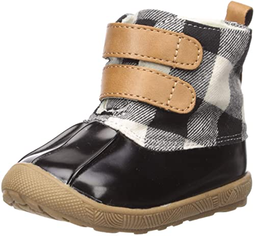Black Buffalo Check Duck Boots
