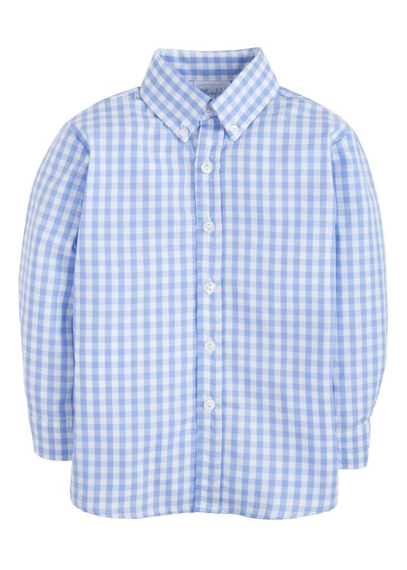 Button Down Shirt- Cornflower Gingham