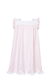 Pretty Pink Palms Caroline Flutter Sleeve Dress