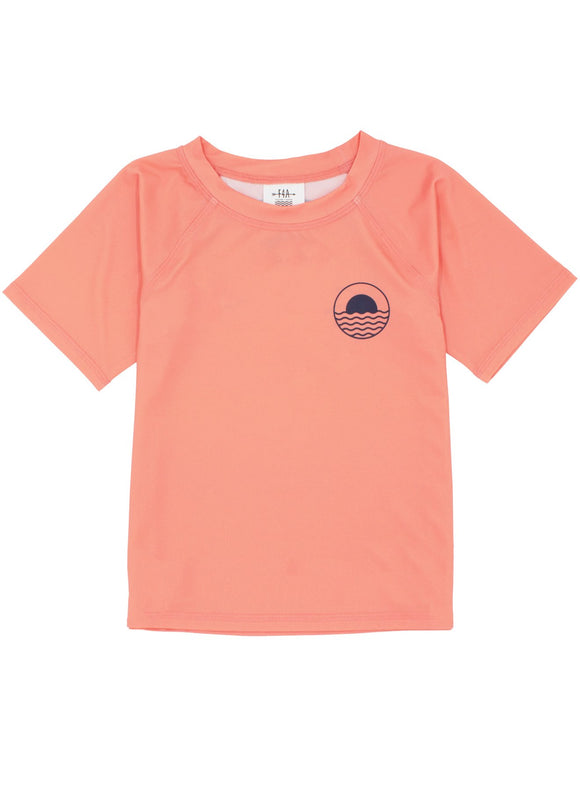 Icon Rash Top- Coral Crush