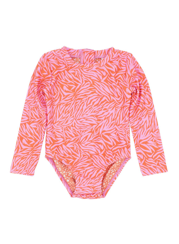 Wave Chaser Surf Suit- Coral Crush