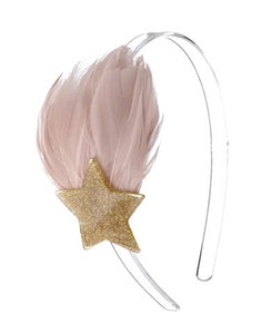Gold Feather and Star Headband