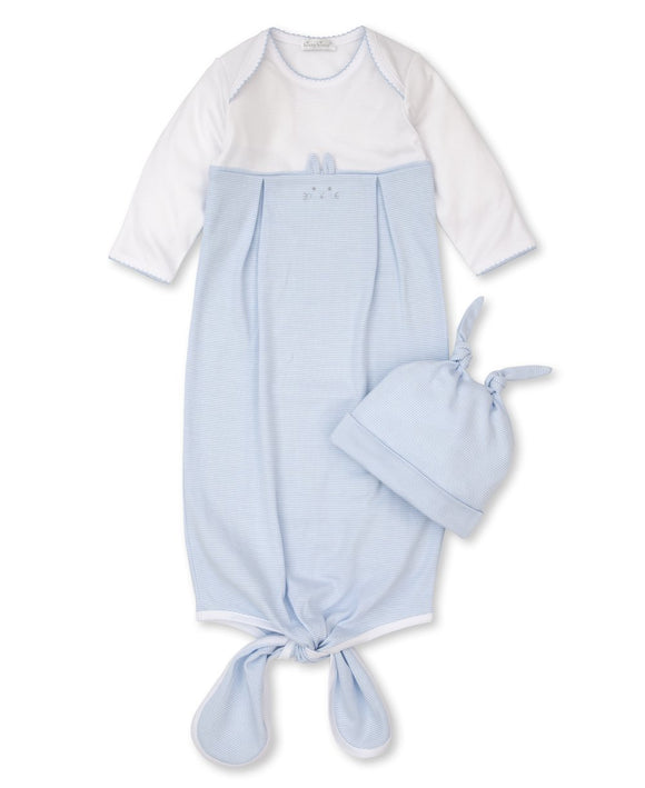 Blue Bunny Hugs Sack and Hat Set