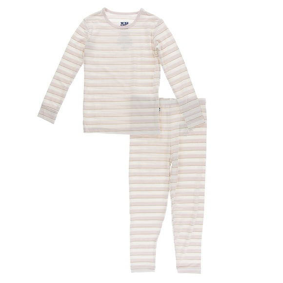 Print Long Sleeve Pajama Set- Everyday Heroes Sweet Stripe
