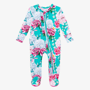 Eloise Footie Ruffled Zippered One Piece