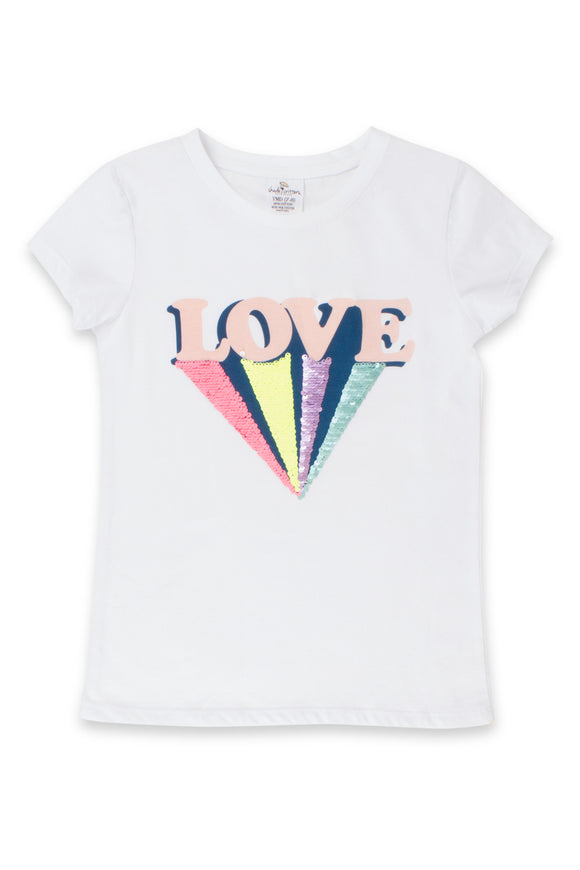 Love Flip Sequin T-Shirt