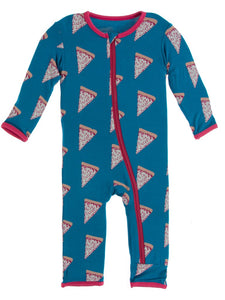 Seaport Pizza Slices Print Coverall with Zipper