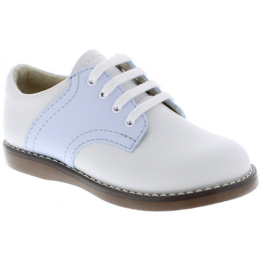 White/Light Blue Cheer Footmates