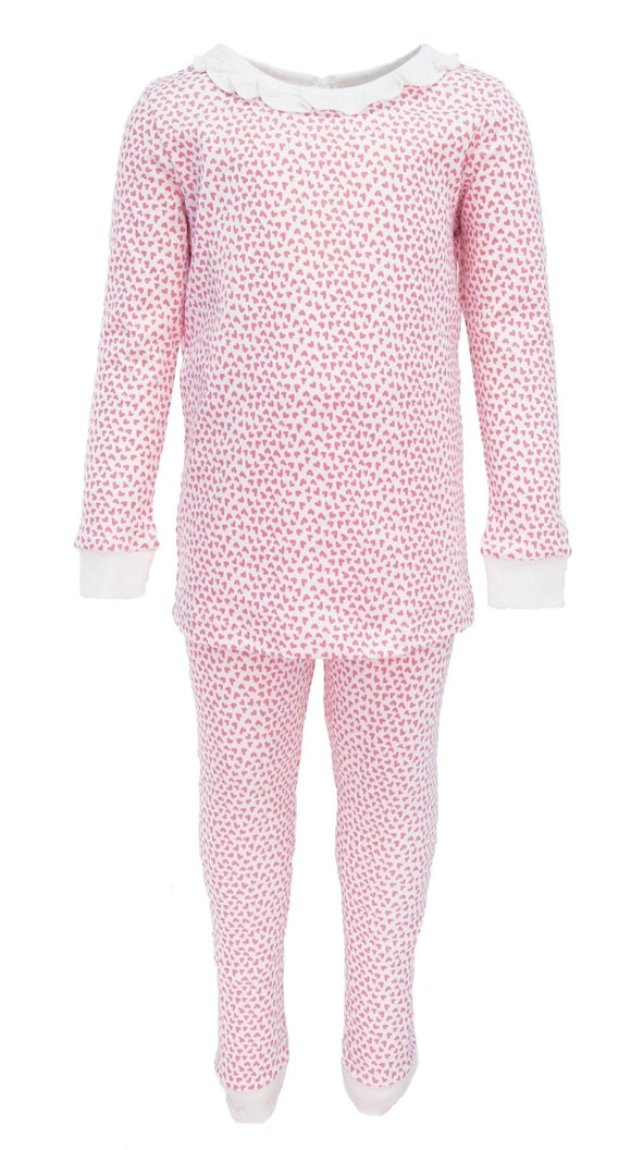 Ava Ruffled Pajamas- Hearts Afloat