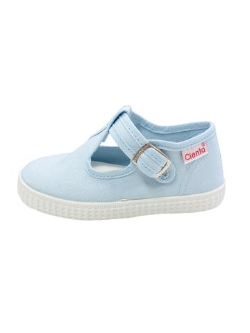 Light Blue T-Strap Cientas