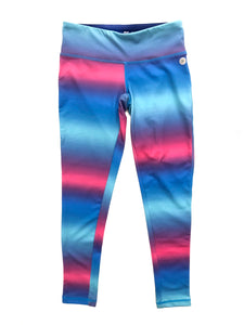 Girls Blue & Pink Ombré Leggings