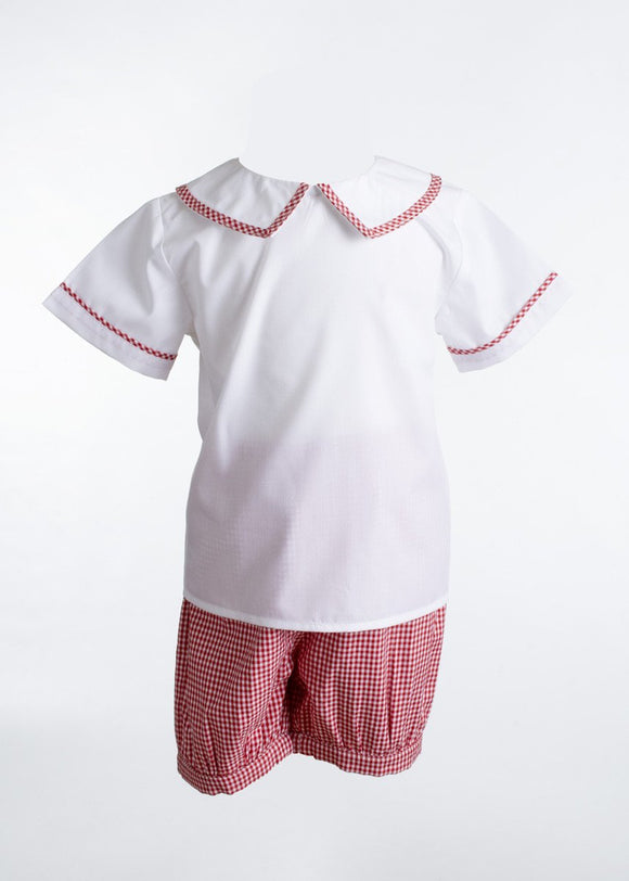 Henry with Banded Short- Red Gingham