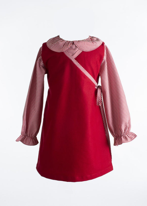 Clare Jumper Red with Red Gingham