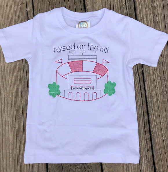 """Raised on the Hill"" Stadium Tee"