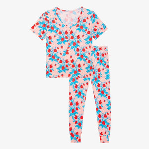 Strawberry Short Sleeve Women's Pajamas