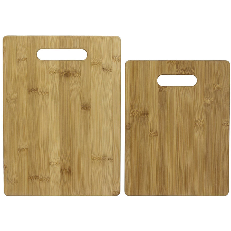 2 Pc Bamboo Cutting Board Set  (#20-2038)