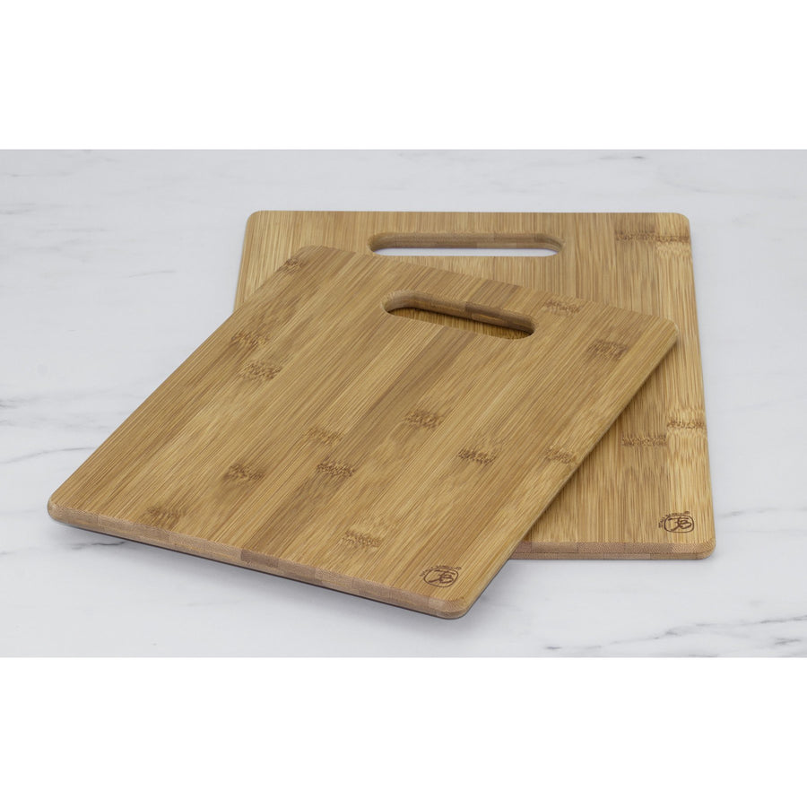 2 Pc Bamboo Cutting Board Set  (#20-2038) - Sample